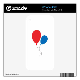 Two Ballons Skin For iPhone 4S