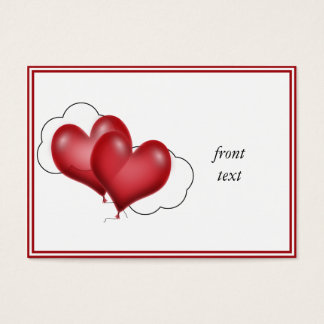 Two Balloon Hearts With Cloud Business Card