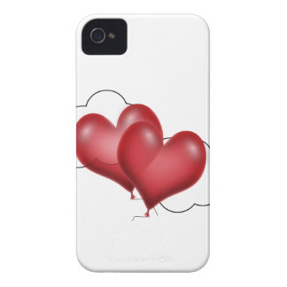 Two Balloon Hearts With Cloud iPhone 4 Case-Mate Case