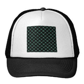 Two Bands Small Diamond - Aquamarine on Black Trucker Hat
