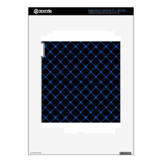 Two Bands Small Diamond - Azure on Black Decal For iPad 3