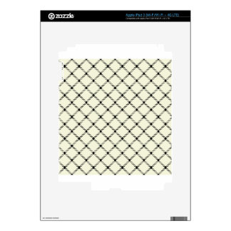 Two Bands Small Diamond - Black on Beige Skin For iPad 3