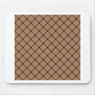 Two Bands Small Diamond - Black on Cafe au Lait Mouse Pads