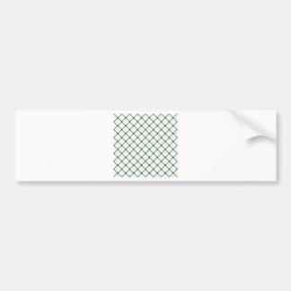 Two Bands Small Diamond - Black on Honeydew Car Bumper Sticker