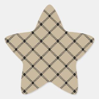Two Bands Small Diamond - Black on Khaki Sticker