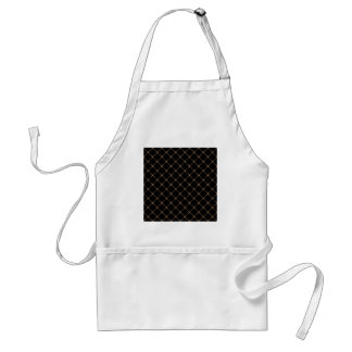 Two Bands Small Diamond - Cafe au Lait on Black Aprons