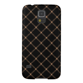 Two Bands Small Diamond - Cafe au Lait on Black Galaxy S5 Case