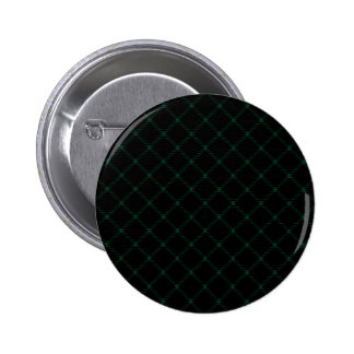 Two Bands Small Diamond - Dark Green on Black Pinback Buttons
