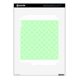 Two Bands Small Diamond - Green1 iPad 3 Decals