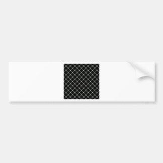Two Bands Small Diamond - Honeydew on Black Car Bumper Sticker