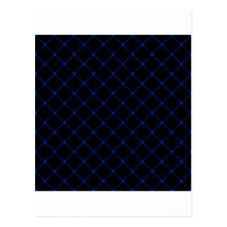 Two Bands Small Diamond - Imperial Blue on Black Postcard