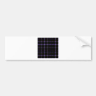 Two Bands Small Square - Amethyst on Black Bumper Sticker