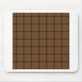 Two Bands Small Square - Black on Brown Nose Mouse Pad