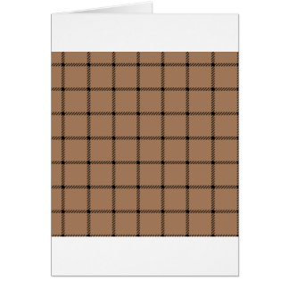 Two Bands Small Square - Black on Cafe au Lait Card
