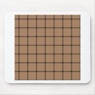 Two Bands Small Square - Black on Cafe au Lait Mouse Pads