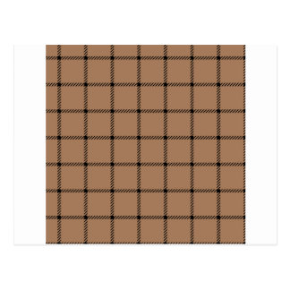 Two Bands Small Square - Black on Cafe au Lait Postcard