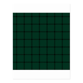 Two Bands Small Square - Black on Dark Green Postcard