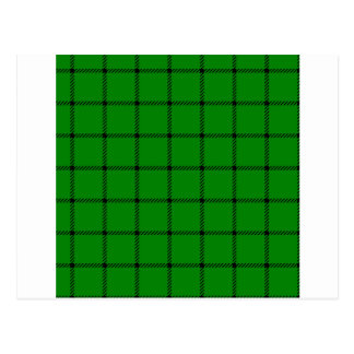Two Bands Small Square - Black on Green Postcard