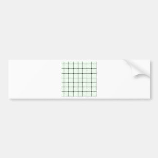 Two Bands Small Square - Black on Honeydew Car Bumper Sticker