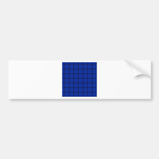 Two Bands Small Square - Black on Imperial Blue Bumper Sticker