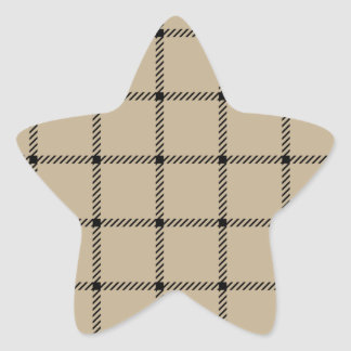 Two Bands Small Square - Black on Khaki Sticker