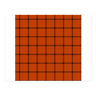 Two Bands Small Square - Black on Mahogany Postcard
