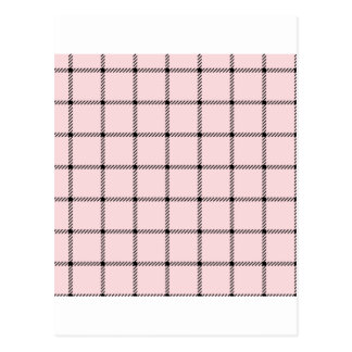 Two Bands Small Square - Black on Pale Pink Postcard