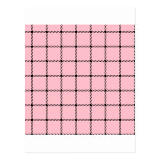 Two Bands Small Square - Black on Pink Postcard