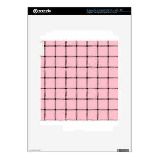 Two Bands Small Square - Black on Pink Skins For iPad 3