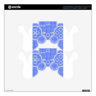 Two Bands Small Square - Blue1 PS3 Controller Decals