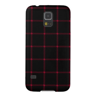 Two Bands Small Square - Burgundy on Black Galaxy S5 Case