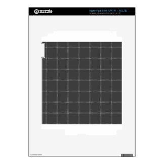 Two Bands Small Square - Dark Gray2 iPad 3 Skins
