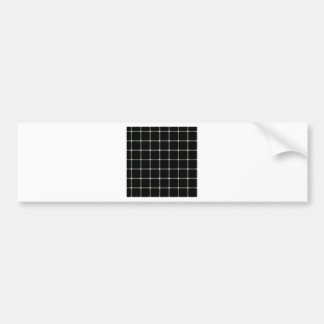 Two Bands Small Square - Honeydew on Black Car Bumper Sticker
