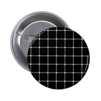 Two Bands Small Square - Honeydew on Black Pinback Button