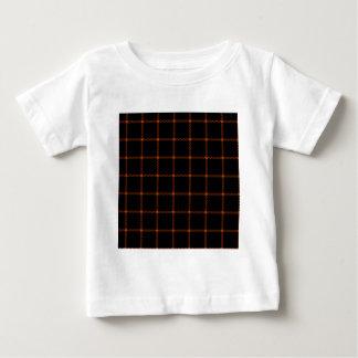 Two Bands Small Square - Mahogany on Black Tshirts