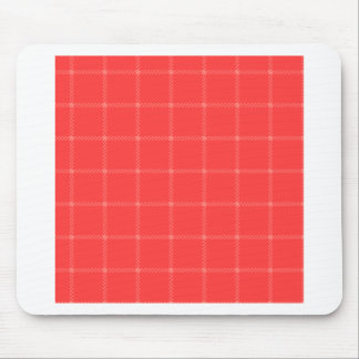 Two Bands Small Square - Red2 Mouse Pad