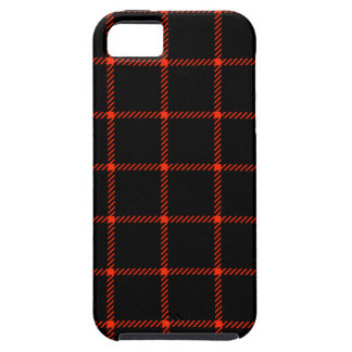 Two Bands Small Square - Scarlet on Black iPhone 5 Cases