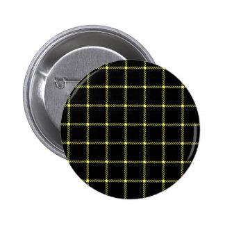 Two Bands Small Square - Unmellow Yellow on Black Pins
