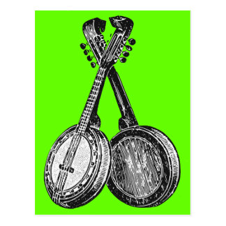 Two Banjos Post Cards