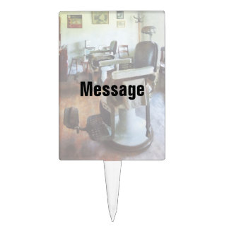 Two Barber Chairs Cake Topper
