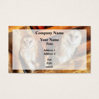 Two Barn Owls Business Card