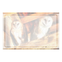 Two Barn Owls Stationery