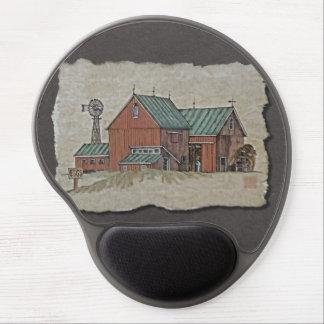 Two Barns & Hay Wagon Gel Mouse Pad