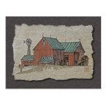 Two Barns & Hay Wagon Post Card