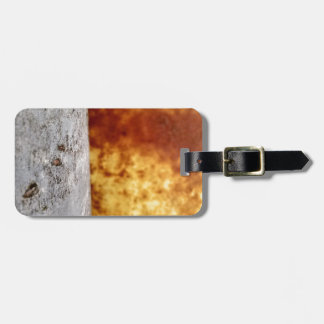 Two barrels in abstract bag tag