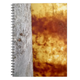 Two barrels in abstract spiral notebook