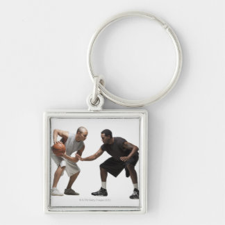 Two basketball players 2 keychain