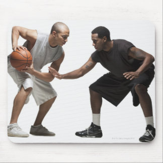 Two basketball players 2 mouse pad
