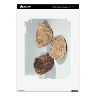 Two baskets and a cover (woven palm fronds) skin for iPad 3