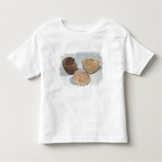 Two baskets and a cover (woven palm fronds) t shirt